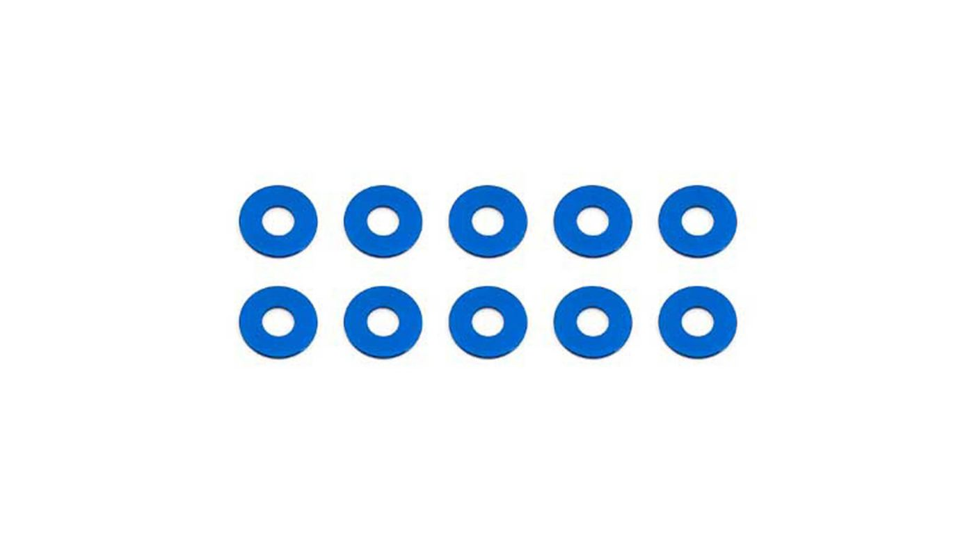Image for Bulkhead Washers, 7.8x0.5mm, Blue Aluminum (10) from HorizonHobby