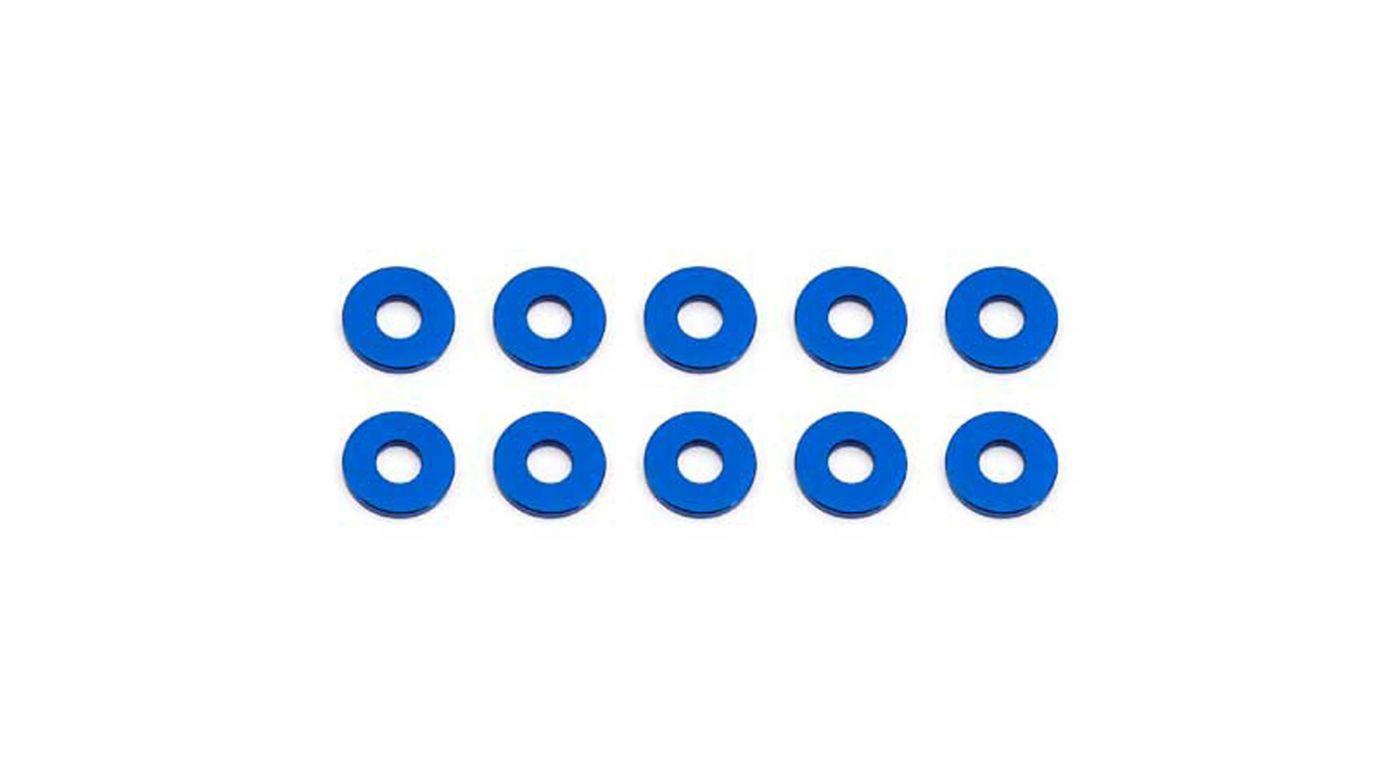 Image for Bulkhead Washers, 7.8x1mm, Blue Aluminum (10) from HorizonHobby