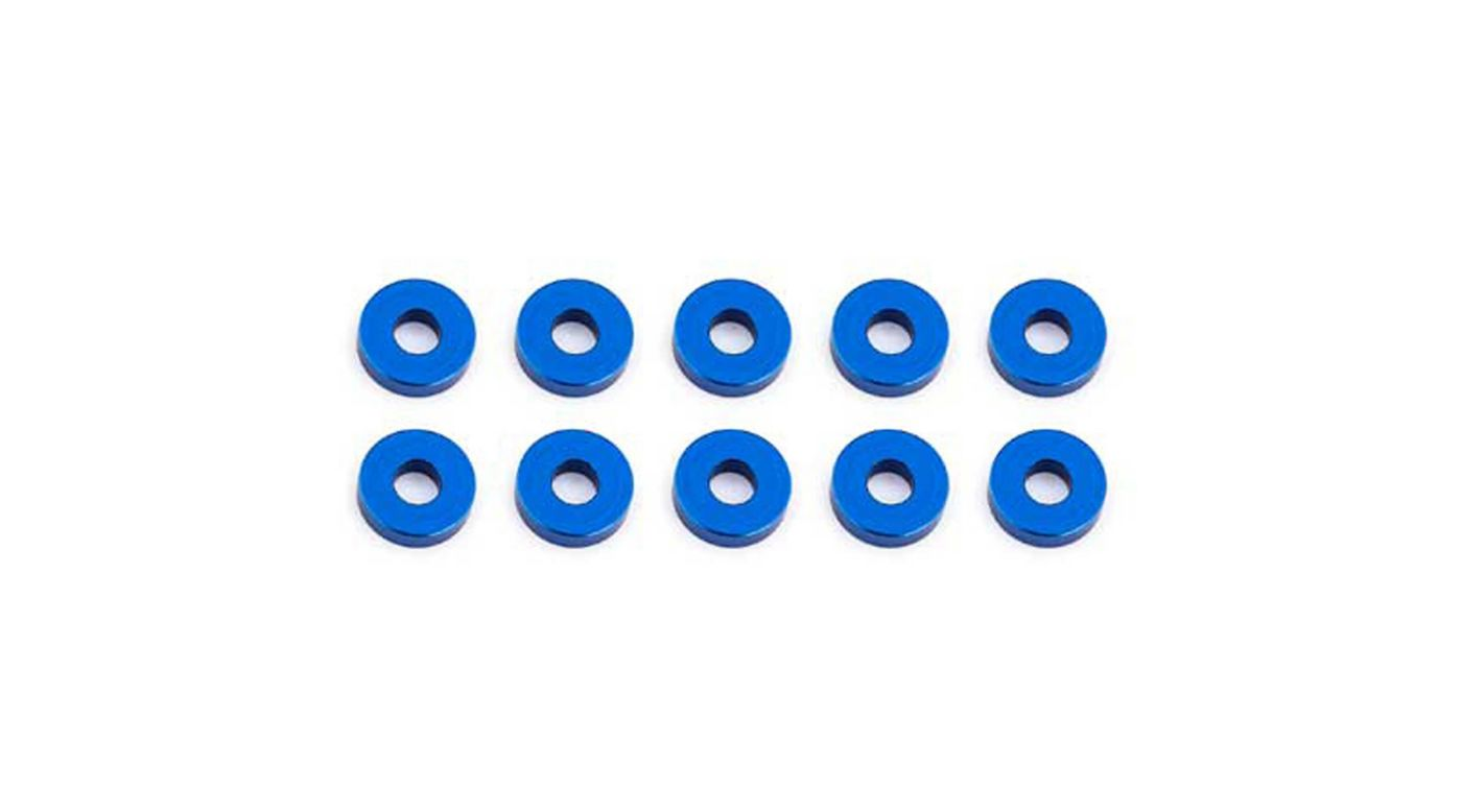 Image for Bulkhead Washers, 7.8x2mm, Blue Aluminum (10) from HorizonHobby