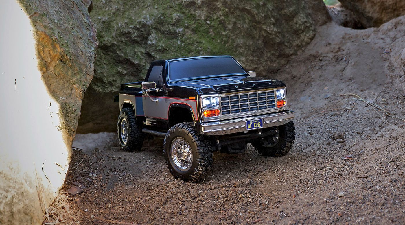 Image for 1/12 CR12 Ford F-150 Pick-Up 4WD Brushed RTR, Black from HorizonHobby