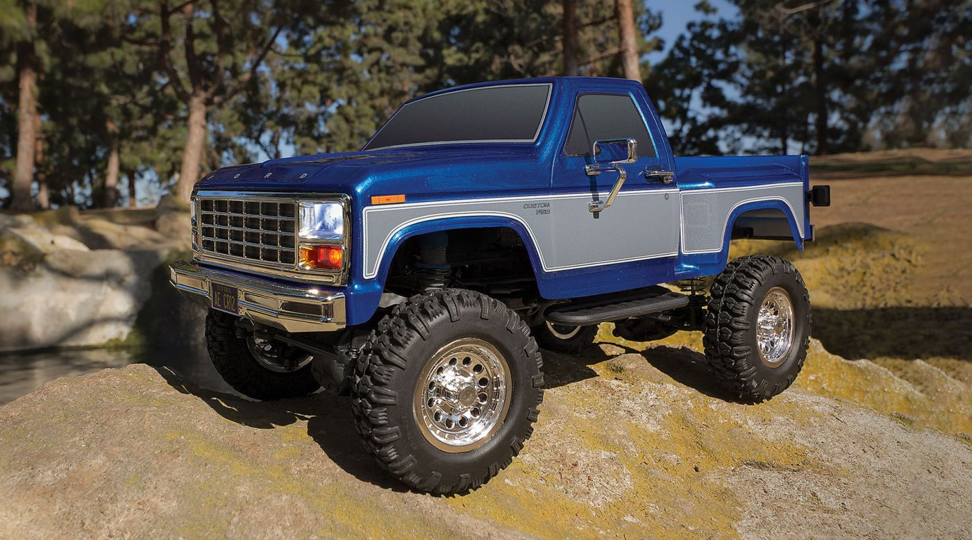 Image for 1/12 CR12 Ford F-150 Pick-Up 4WD Brushed RTR, Blue from HorizonHobby