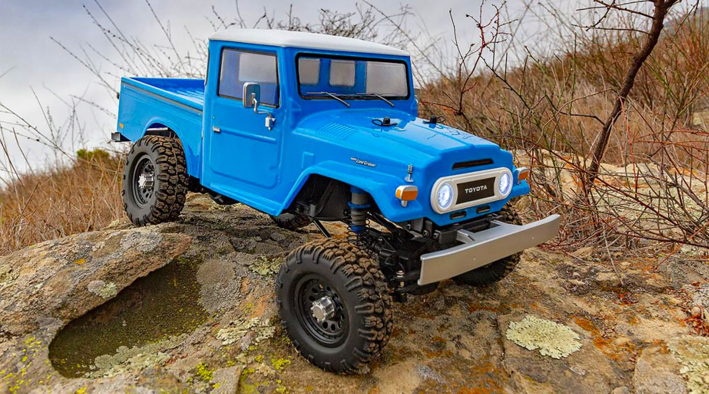 Image for 1/12 CR12 Toyota FJ45 4X4 Pick-Up Truck RTR, Blue from HorizonHobby