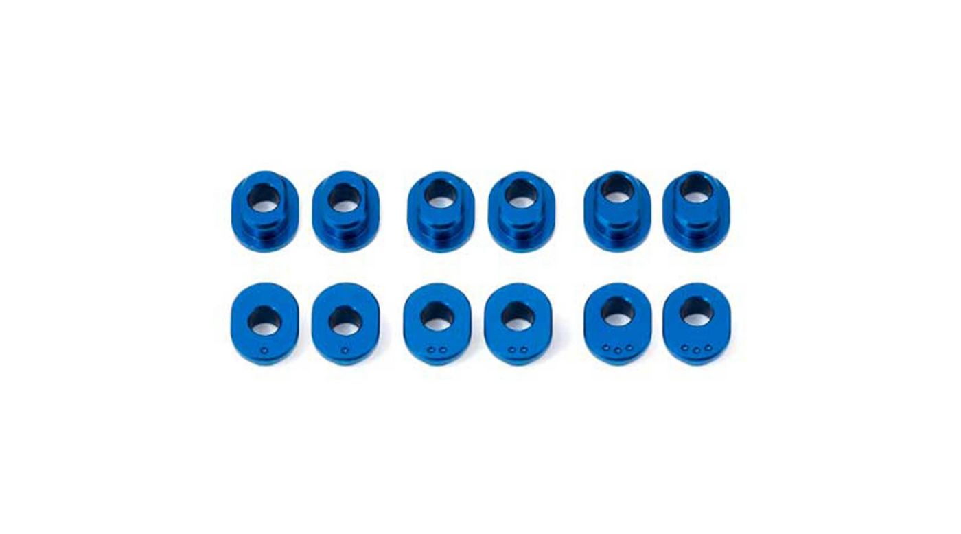 Image for Factory Team Track Width Bushings Aluminum: RC12R6 from HorizonHobby