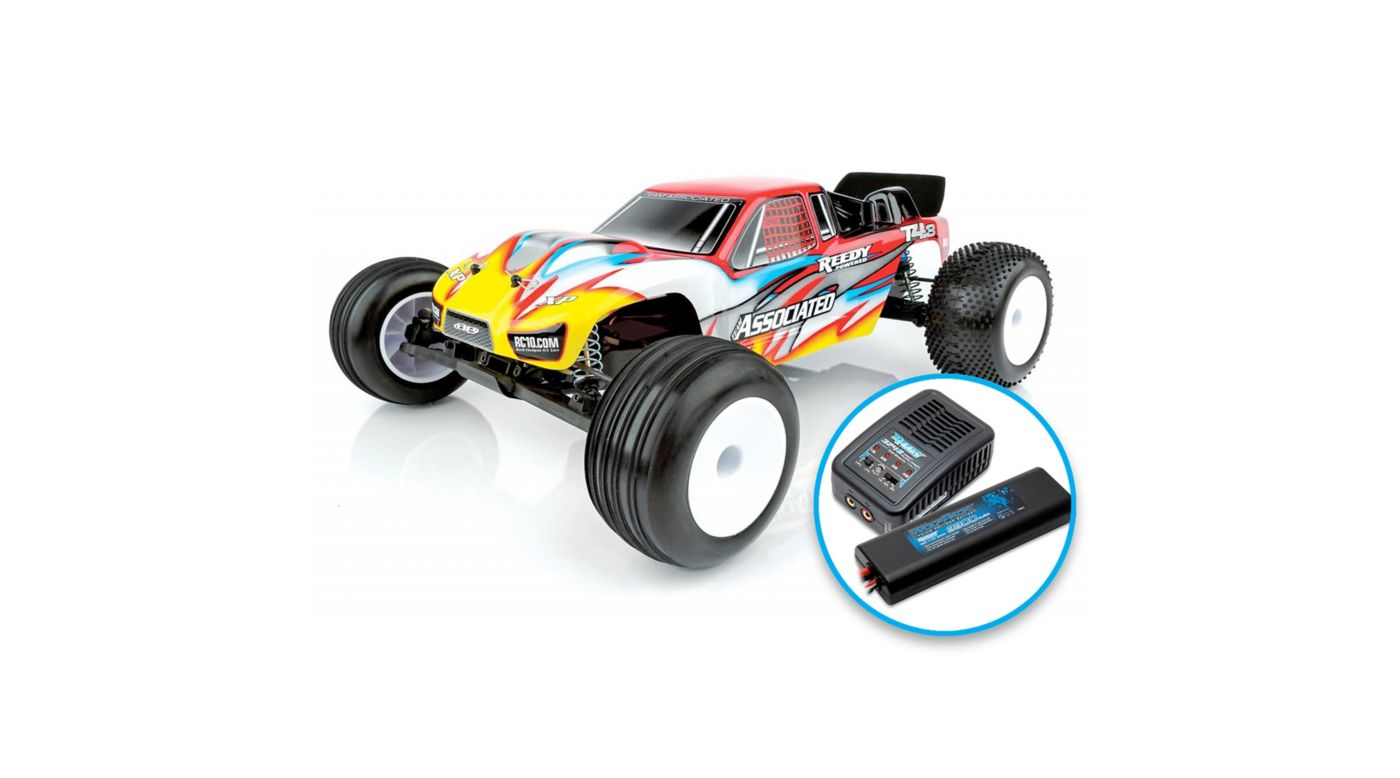 Image for 1/10 RC10T4.3 2WD Stadium Truck Brushless LiPo Combo RTR, Red from HorizonHobby