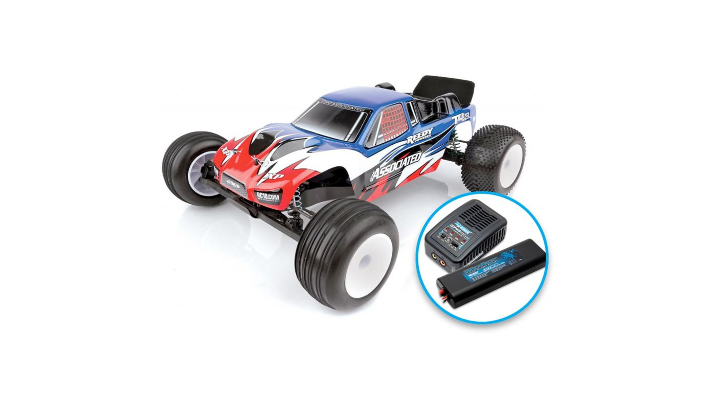 Image for 1/10 RC10T4.3 2WD Stadium Truck Brushless LiPo Combo RTR, Blue from HorizonHobby
