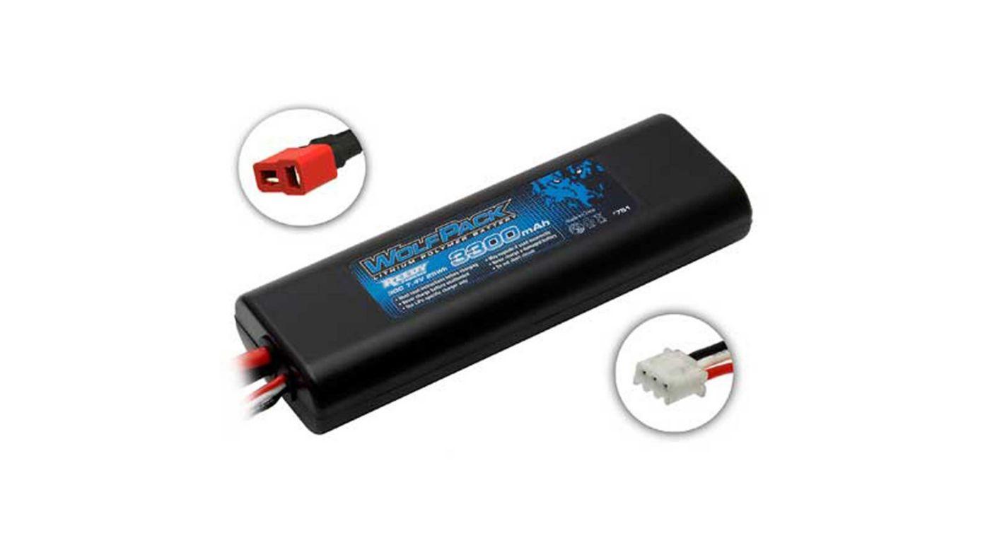 Image for 7.4V 3300mAh 2S 30C Reedy WolfPack LiPo Battery: T-plug from HorizonHobby