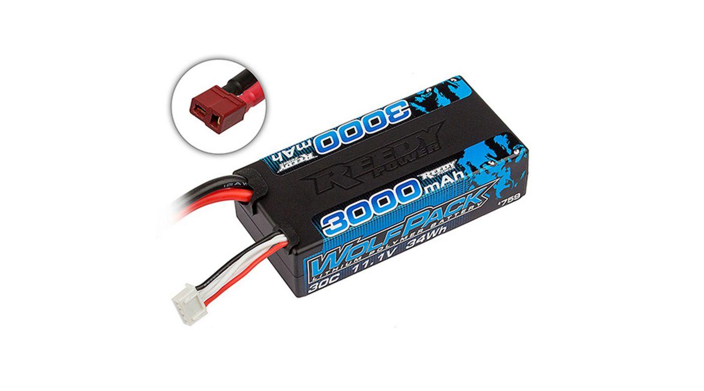 Image for 11.1V 3000mAh 3S 30C Reedy Wolfpack Shorty LiPo Battery: T-plug from HorizonHobby