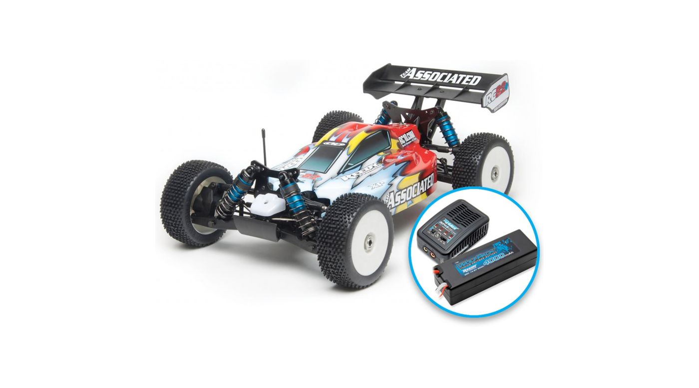 Image for 1/8 RC8.2e 4WD Buggy Brushless RTR LiPo Combo, Red from HorizonHobby