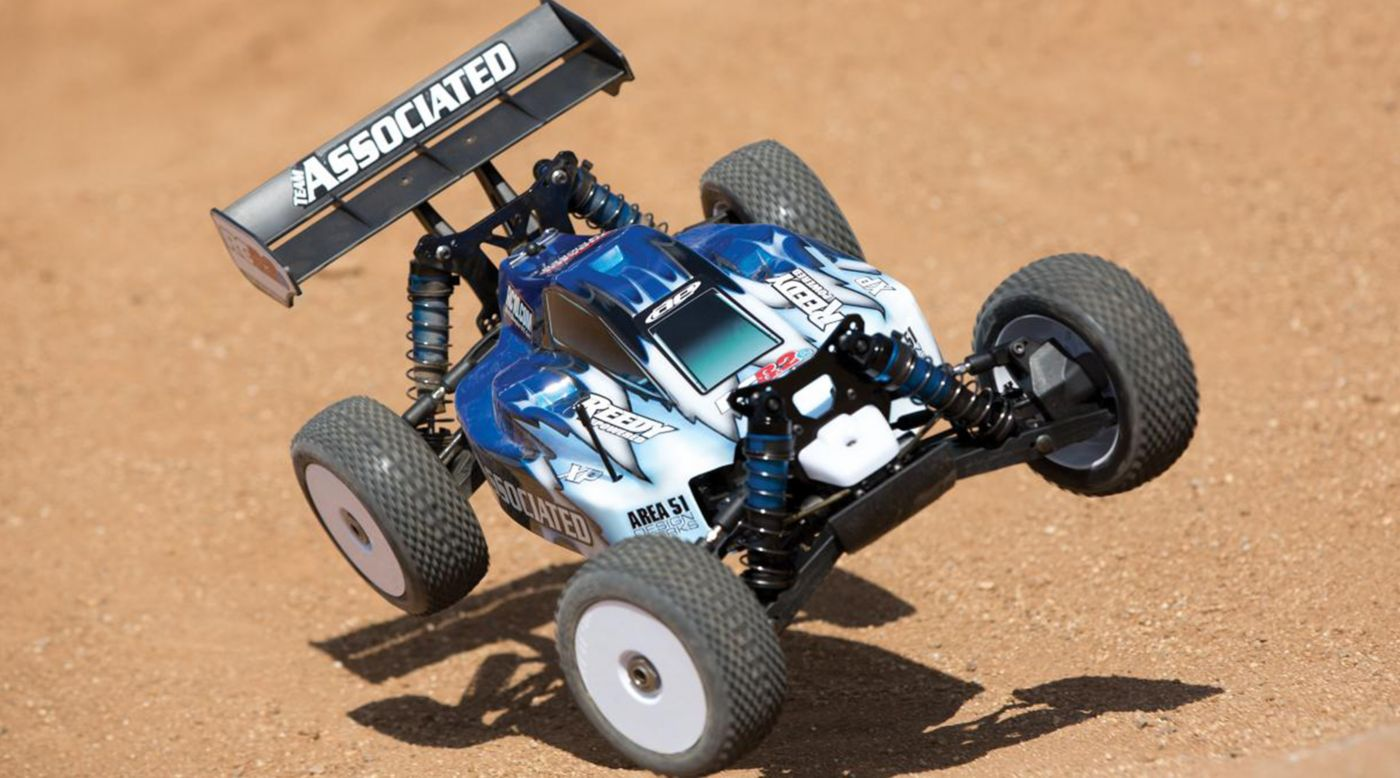 Image for 1/8 RC8.2e 4WD Buggy Brushless RTR LiPo Combo, Blue from HorizonHobby