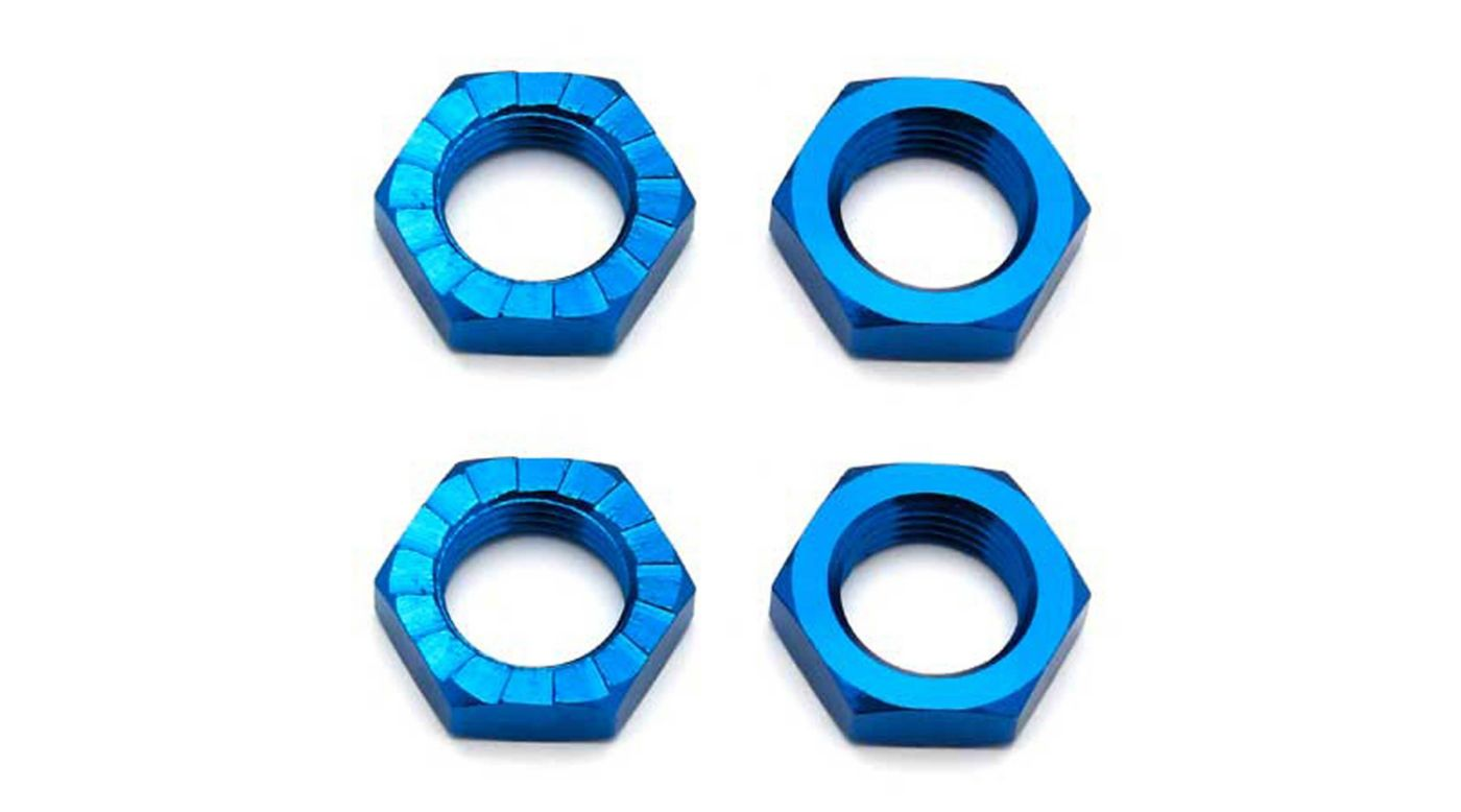 Image for Factory Team Wheel Nuts 17mm Blue from HorizonHobby