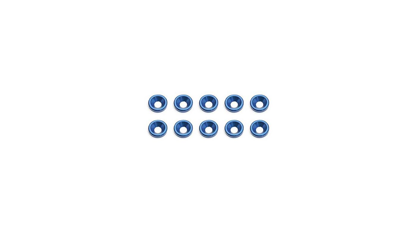 Image for Factory Team Blue Countersunk Washer (10) from HorizonHobby