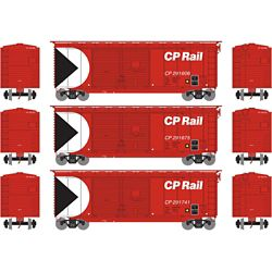 Athearn 16049 HO 40' Double Door Box Canadian Pacific CPR (3)