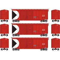 Athearn 16053 HO 40' Double Door Box E&N (3)