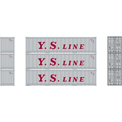 Athearn 17709 N 40' Smooth Side Container YS Line (3)
