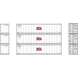 Athearn 17711 N 40' Smooth Side Container ACL (3)
