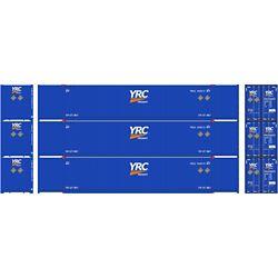 Athearn 17753 N 53' CIMC Container YRC (3)