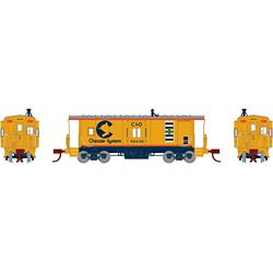 Athearn 23138 N Bay Window Caboose Chessie #904120