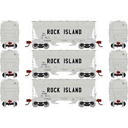 Athearn 23456 N ACF 2970 Covered Hopper Rock Island RI (3)