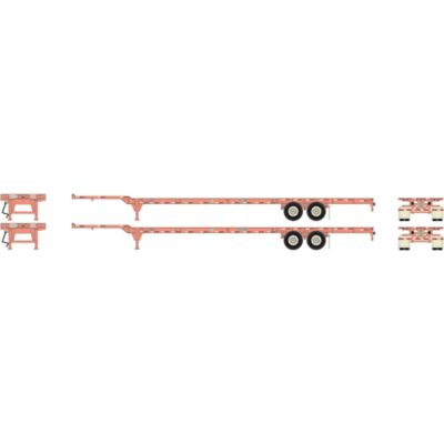 HO RTR 53' Chassis, Ex-BNSF/UP (2)