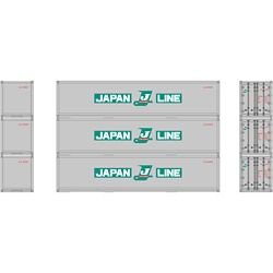 Athearn 27163 HO 40' Smooth Side Container Japan Line (3)