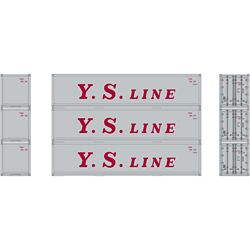 Athearn 27165 HO 40' Smooth Side Container YS Line (3)
