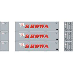 Athearn 27169 HO 40' Smooth Side Container SHOWA (3)