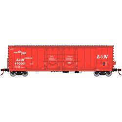 Athearn 67714 HO 50' Evans DD Plug Box Louisville & Nashville #490001