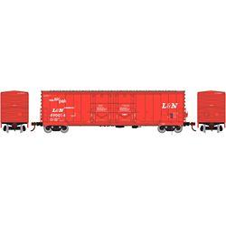 Athearn 67717 HO 50' Evans DD Plug Box Louisville & Nashville #490014