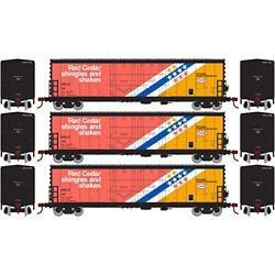 Athearn 67721 HO 50' Evans DD Plug Box USLX CanFor (3)