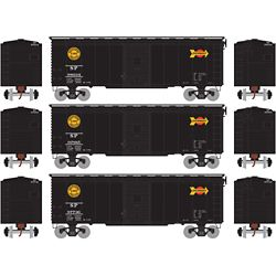 Athearn 73701 HO 40' Youngstown Door Box Box Southern Pacific/Black Overnight #1 (3)