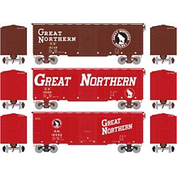 Athearn 73705 HO 40' Youngstown Door Box GN/Circus #1 (3)