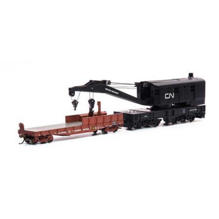 Athearn 75412 HO RTR 200-Ton Crane w/Tender, CN Black #90359 ATH75412