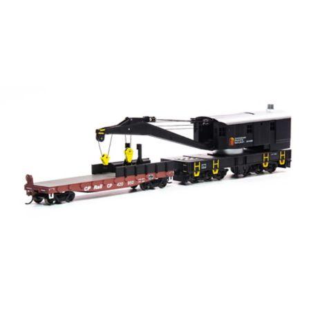 Athearn 75413 HO RTR 200-Ton Crane w/Tender, CPR/Beaver #414503 ATH75413