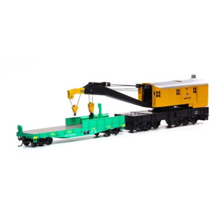 Athearn 75414 HO RTR 200-Ton Crane w/Tender, SPMW/Orange #6005 ATH75414