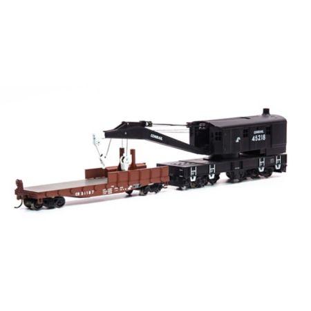 Athearn 75415 HO RTR 200-Ton Crane w/Tender,CR/Small Logo #45218 ATH75415