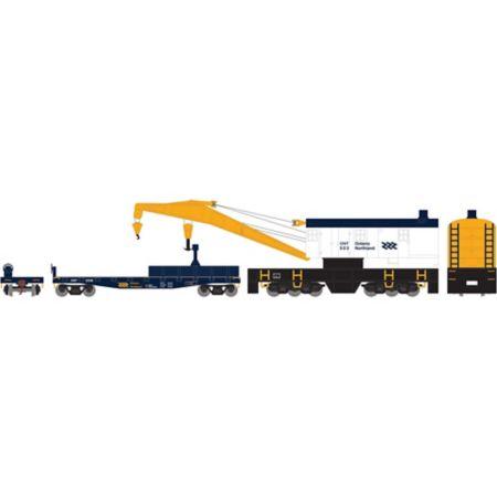Athearn 75416 HO RTR 200-Ton Crane w/Tender, ONT #503 ATH75416