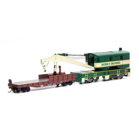 Athearn 75417 HO RTR 200-Ton Crane w/Tender, AZCR #4801 ATH75417