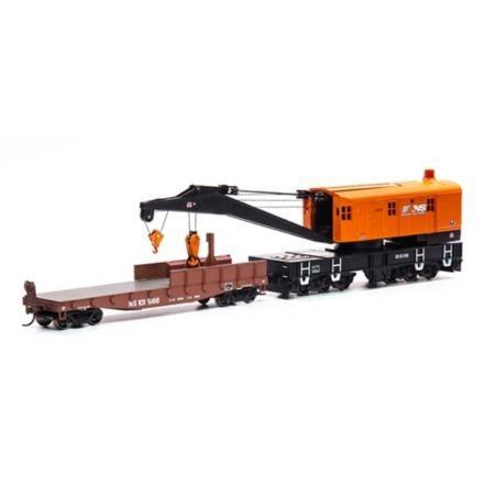 Athearn 75418 HO RTR 200-Ton Crane w/Tender, NS/Orange #92545 ATH75418