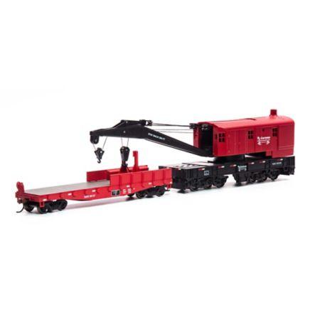 Athearn 75419 HO RTR 200-Ton Crane w/Tender, RJC #493558 ATH75419