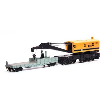 Athearn 75420 HO RTR 200-Ton Crane w/Tender, MOW #855 ATH75420
