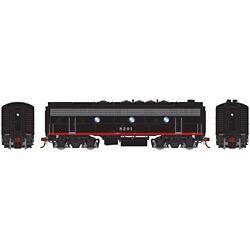Athearn G19509 HO F7B w/DCC & Sound Southern Pacific Black Widow #8291