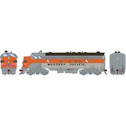 Athearn G19527 HO FP7A w/DCC & Sound Western Pacific WP #916-D
