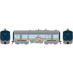 Athearn G19547 HO F7B w/DCC & Sound Santa Fe/Dual Service #345A
