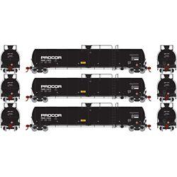Athearn G25624 HO 33,900-Gallon LPG Tank/Late PROX #1 (3)