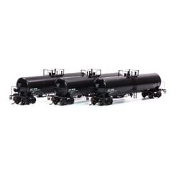 Athearn G40160 HO GATC 20K-Gallon GS Tank GATX/Black Early -3
