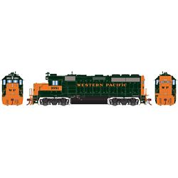 Athearn G65157 HO GP40-2 w/DCC & Sound Western Pacific WP #3551