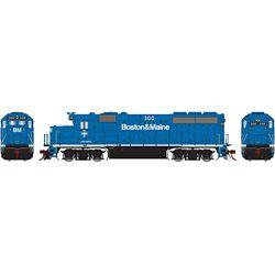 Athearn G65160 HO GP40-2 w/DCC & Sound Boston & Maine B&M #300