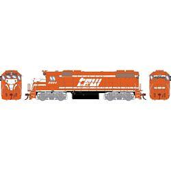 Athearn G68848 HO GP38-2 w/DCC & Sound Texas Peoria & Western/Red & White #2004