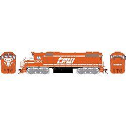 Athearn G68849 HO GP38-2 w/DCC & Sound Texas Peoria & Western/Red & White #2005