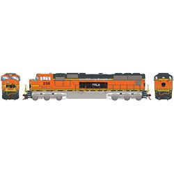 Athearn G70554 HO SD75M PRLX/ex Warbonnet #238